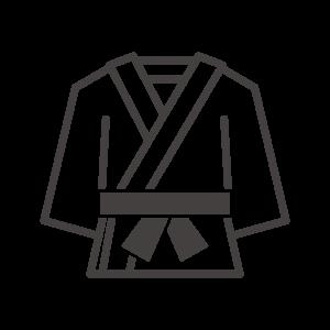 黒帯の柔道着のアイコン