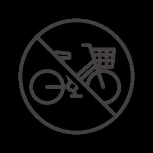 駐輪禁止/自転車での通行禁止のアイコン