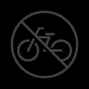 駐輪禁止/自転車での通行禁止のアイコン02
