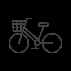 カゴ付き自転車のアイコン