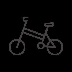 折りたたみ自転車のアイコン