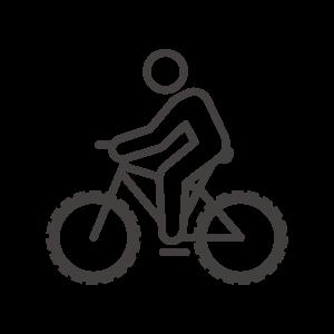 マウンテンバイクでサイクリングのアイコン