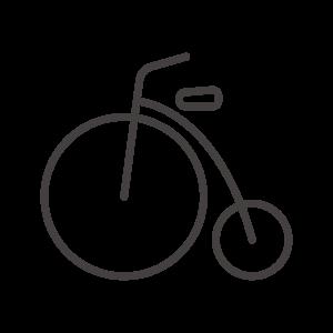 アンティーク自転車のアイコン